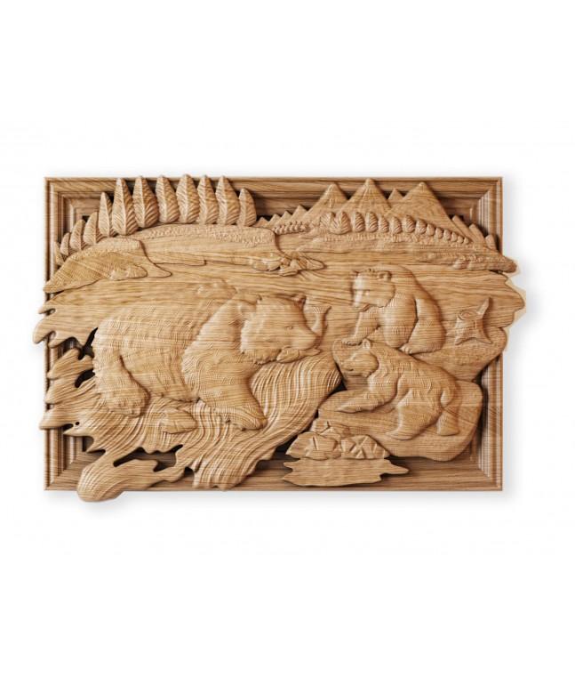 Панно «Камчатские медведи»