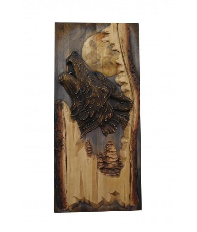 Панно «Волк в дереве»