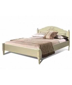 """Кровать двойная с низкой ножной спинкой (1600) """"Фиерта 4"""""""